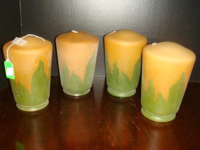 Four HANDEL Reproduction Closed Bottom Shades: