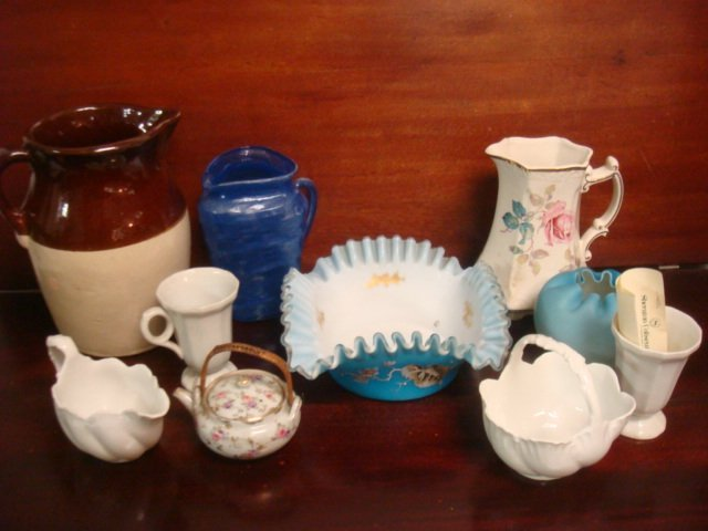 Assorted Vintage Glass and Pottery Pieces: