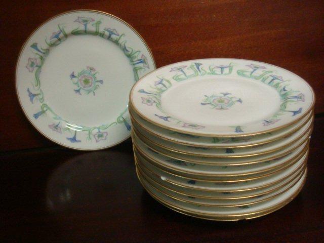 Eleven HAVILAND LIMOGES Salad Plates: