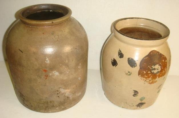 19th & 20th Century Stoneware Crocks:
