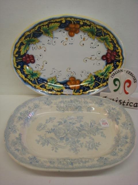 ARTISTICA Platter, Sign and C&E Transferware Platter: