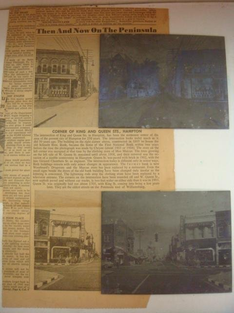 "DAILY PRESS 1950'S ""THEN & NOW"" Articles & Plates:"