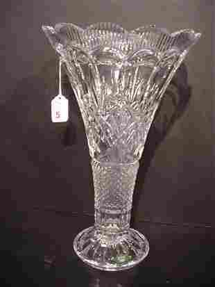 Shannon Crystal Fluted Trumpet Vase: Elega