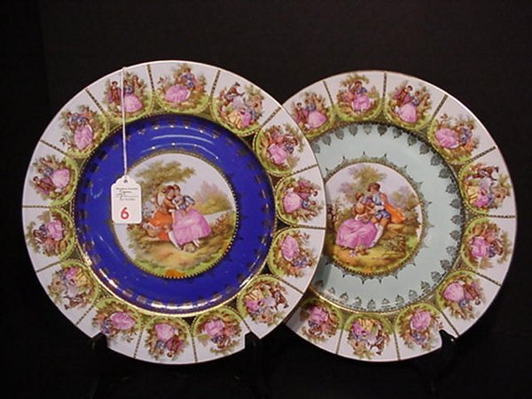 6: Two Artist Signed Bavarian Love Story Plat