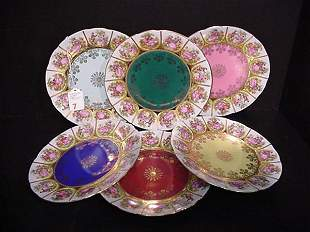 6 Love Story J.K. Carlsbad Dessert Plates
