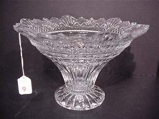 """Shannon Crystal Fluted Center Bowl: 8 1/2"""""""