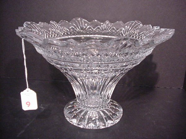 9: Shannon Crystal Fluted Center Bowl: 8 1/2""