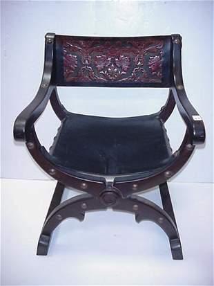 Vintage Venezuelan Savonorola Chair: Heav