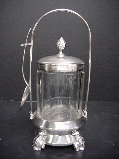 226: Victorian Silverplate Pickle Castor & Bu