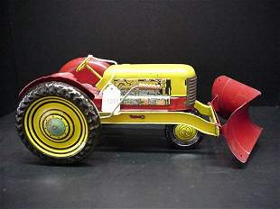 Early 1950's Tin Litho Tractor