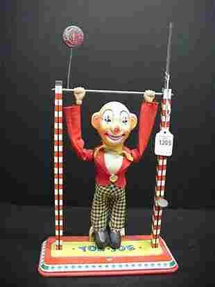 Toe/Joe Tin Litho/Plastic 1950's Clown