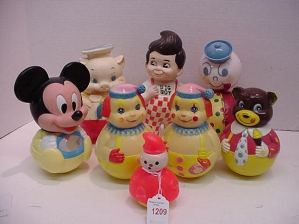 1209: 8 Roly Poly and Figural Toys: