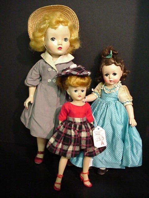 1283A: 3 Vogue and Madame Alexander Dolls: