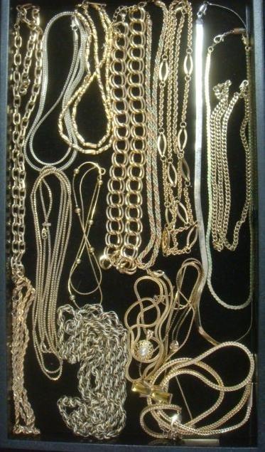Goldtone Ladies Costume Jewelry Necklaces: