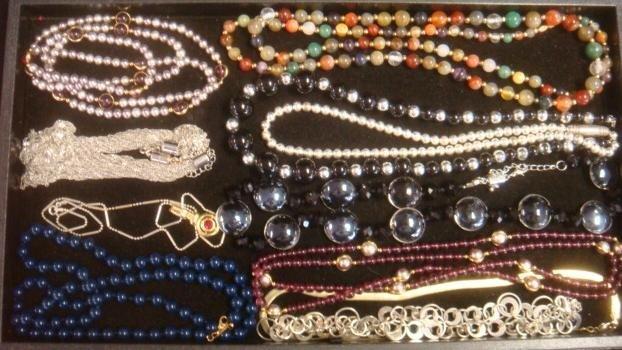 Eleven Ladies Costume Jewelry Necklaces:
