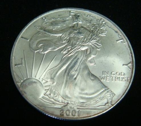 2001 SILVER EAGLE BULLION COIN: