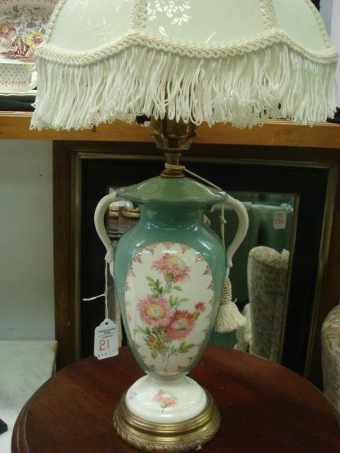 Floral Urn Shaped Dresser Lamp: