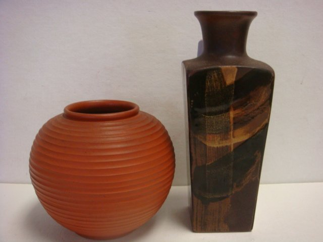 WEKARA Red Clay Vase and POTTERY CRAFT Vases: