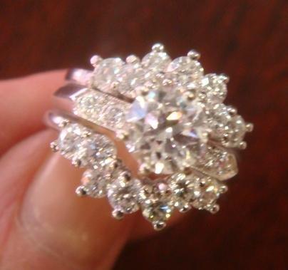 Ladies Diamond and Platinum Engagement & Guard Rings:
