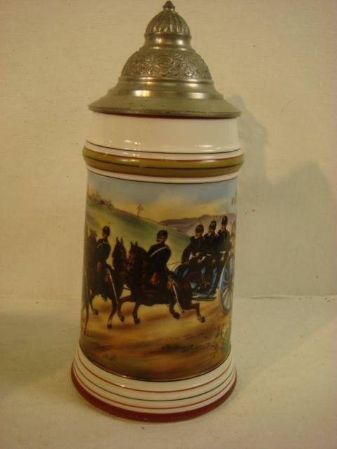 German Regimental Stein with Lithophane: