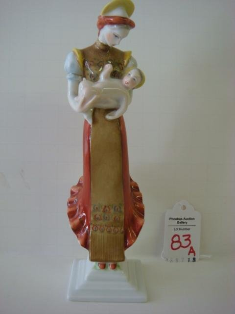 HEREND Madonna and Child Figurine: