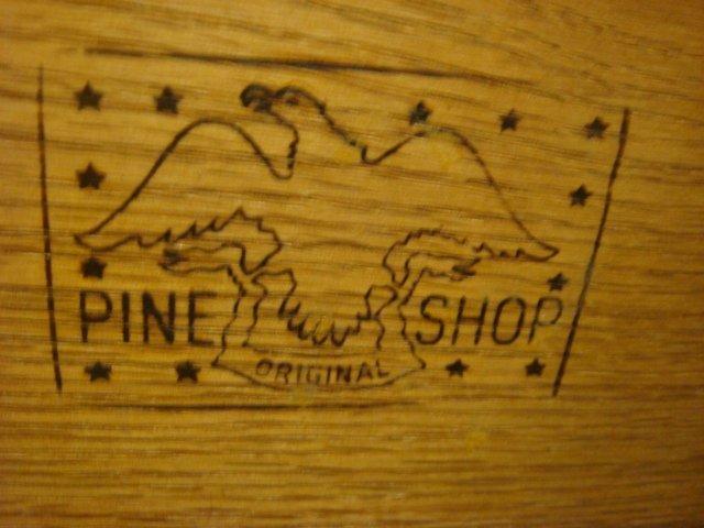 Quality PINE SHOP ORIGINAL Two Pc. Step Back Cupboard: - 4