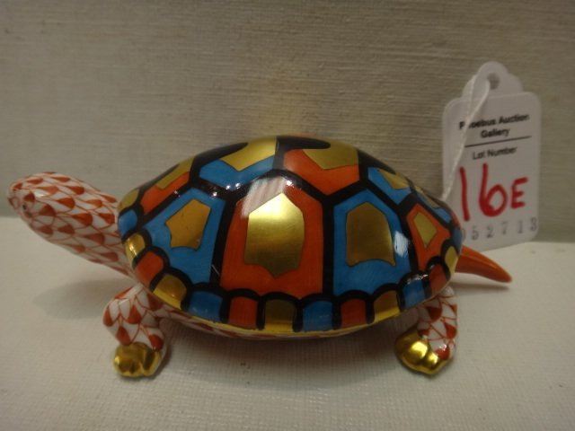 HEREND Turtle Figurine: