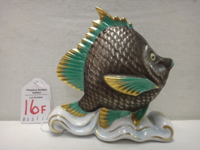 HEREND Fish Figurine:
