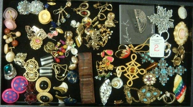 Collection of Ladies Costume Earrings and Pins: