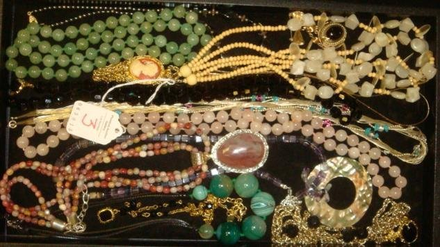 Ladies Jade, Stone and Bead Necklaces: