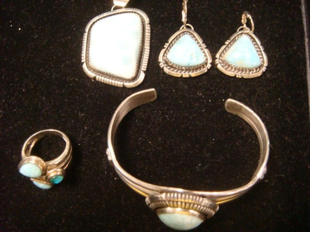 Sterling YAZZI Bracelet, Slide, Earrings and Ring: