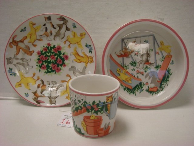 "TIFFANY & CO, ""Tiffany Playground"" Child's Dinner Set:"