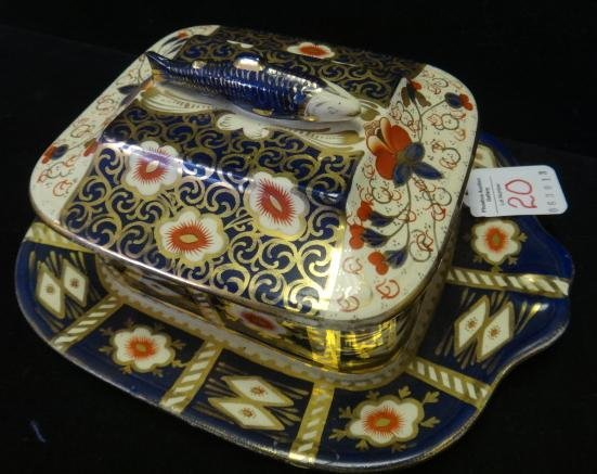 19th C. ROYAL CROWN DERBY Imari Sardine Box: