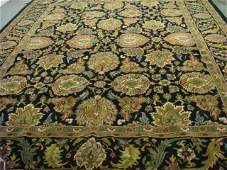 Black Ground Handloomed Persian Mahal Style Rug