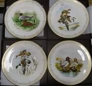 Four BOEHM Water Bird Plates in Original Boxes
