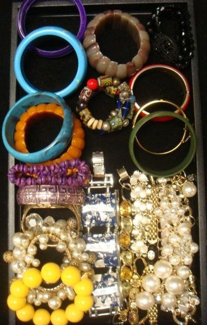 Variety of Ladies Costume Jewelry Bracelets: