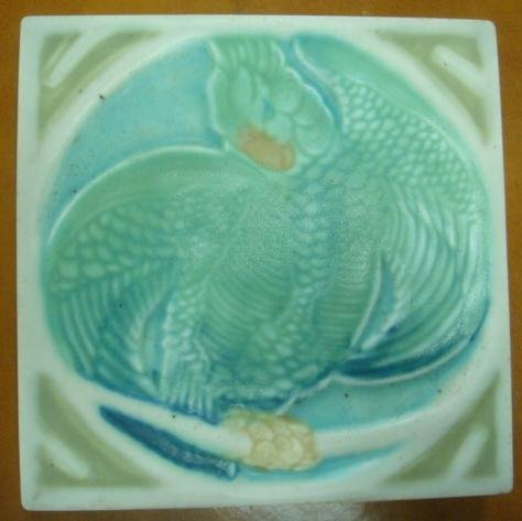 ROOKWOOD POTTERY Tile/Trivet Parrot on Branch: