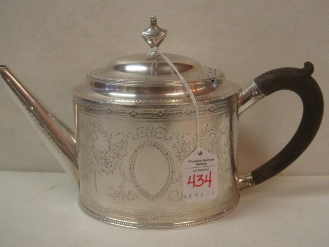 HESTER BATEMAN Georgian Sterling Silver Teapot: