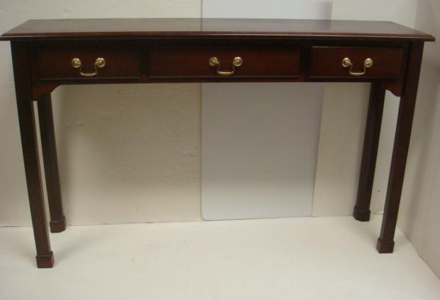 BOMBAY CO Mahogany 3 Drawer Sofa Table: