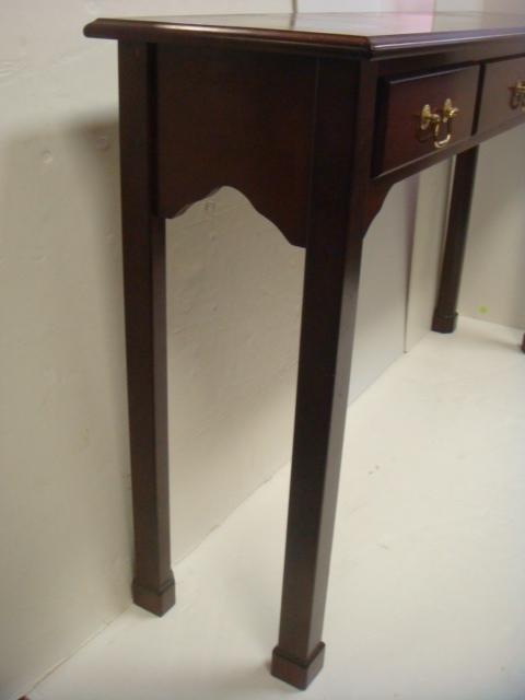 BOMBAY CO Mahogany 3 Drawer Sofa Table: - 2