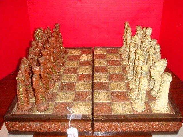 AZTEC & CONQUISTADOR Mexican Chess Set:
