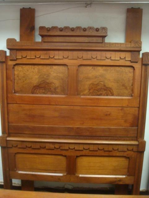 Three Piece Walnut Eastlake Bedroom Set: