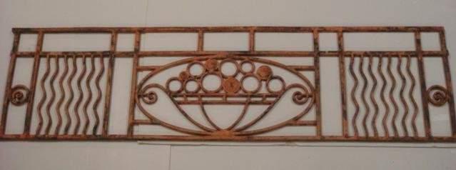 Architectural Iron Rectangular Piece: