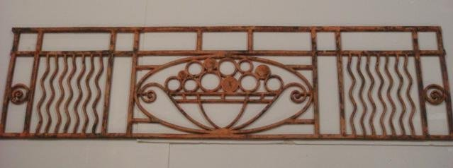 Architectural Iron Rectangular Piece: