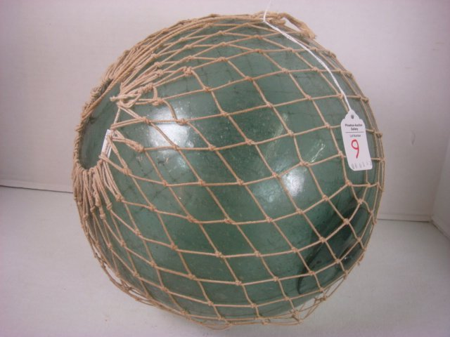 Large Japanese Glass Fishing Net Float: