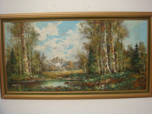 Woodland Landscape Oil on Canvas Signed REGGIANINI::
