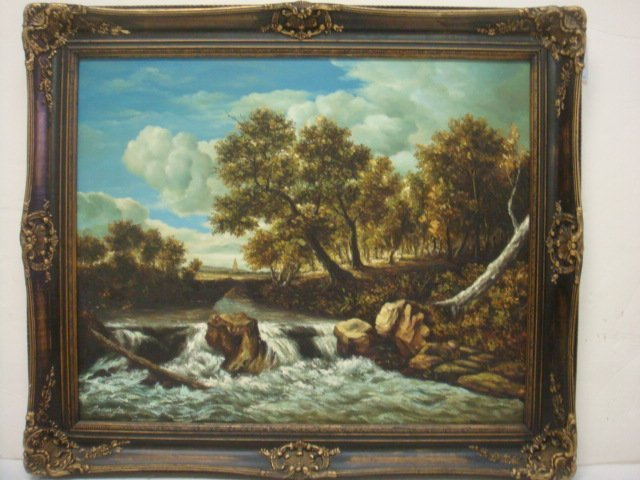 Landscape  Oil on Canvas Signed JAMES LEA: