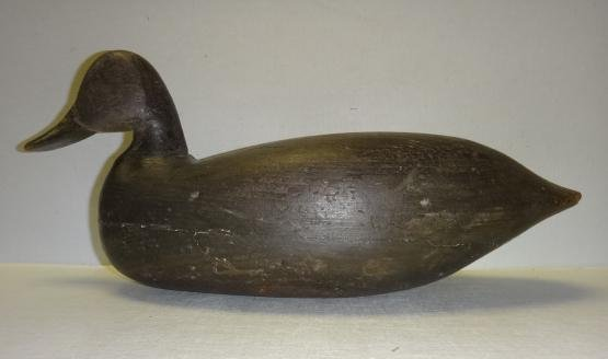 Charles Jester Carved Black Duck Decoy: