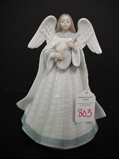 803: Lladro Angel Limited Edition with Lute: