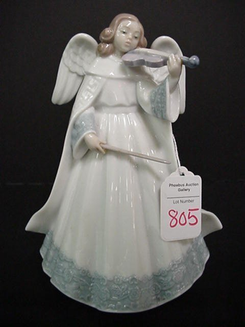 805: Lladro Angel Limited Edition with Violin